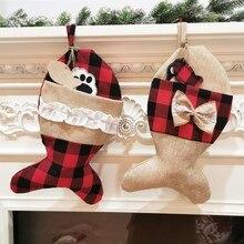 New 2020 New Christmas Home Decor Stockings Pet Socks Christmas Socks Gift Bags