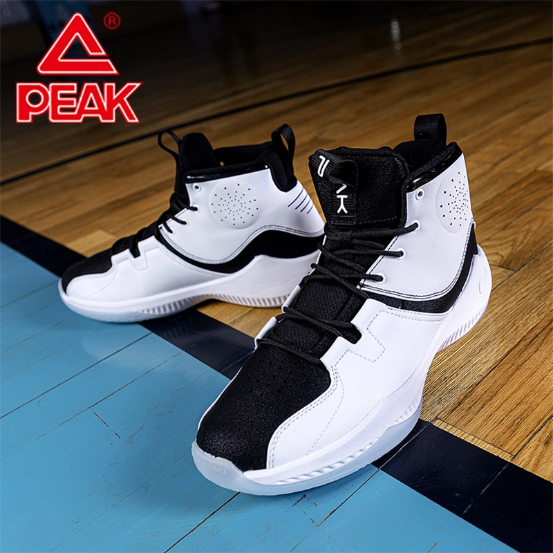 Peak Men Basketball Shoes 2019 New High-top Cushioning Sneakers Outdoor Wear-resistant Non-slip Sports Shoes