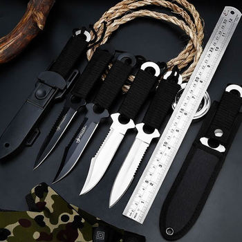 New diving hunting knife survival stainless steel outdoor tactical knife knives EDC camping tool knife sheath high quality outdoors tool knives bolte kydex sheath tactical camping hunting diving knife d2 steel blade black g10 handle