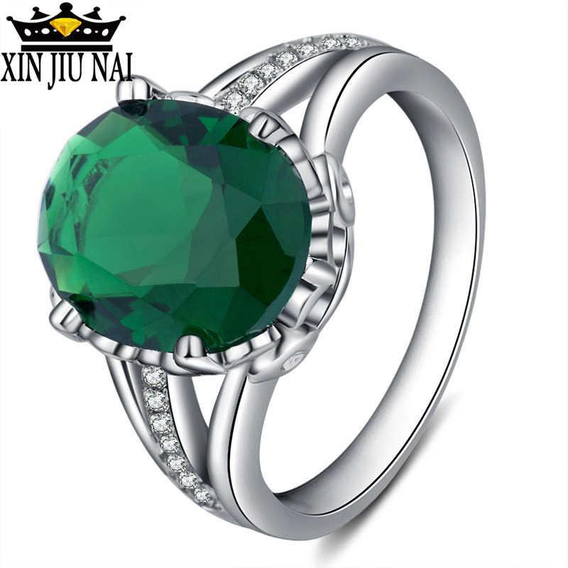 פנינה JewelryPalace אגס 4ct ירוק נוצר אמרלד אירוסין טבעת נישואים 925 anillos כסף יוקרה יום הולדת/מסיבה/ריקוד טבעת