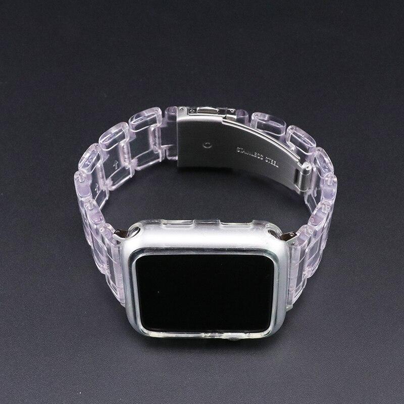 Купить новый спортивный ремешок для apple watch series 6 se 5 4 3 прозрачная