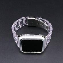 Новый спортивный ремешок для apple watch series 6 se 5 4 3 прозрачная