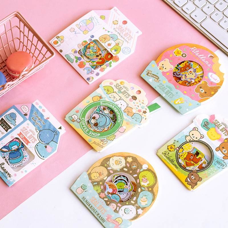 Rilakkuma And Kawaii Sumikko Gurashi Bullet Journal Decorative Stationery Stickers Scrapbooking DIY Diary Album Stick Label