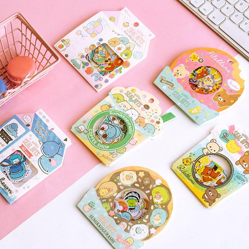 Rilakkuma And Kawaii Sumikko Gurashi Bullet Journal Decorative Stationery Stickers Scrapbooking DIY Diary Album Stick Label