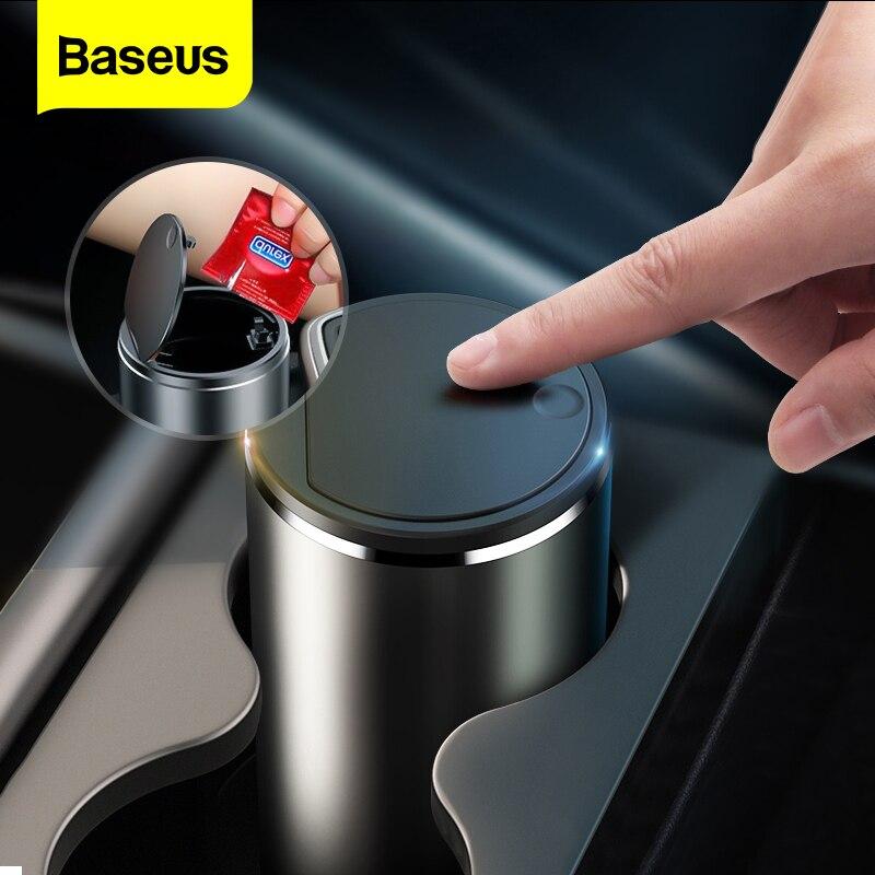 Baseus סל סגסוגת אשפה יכול עבור רכב פח אשפה פסולת אשפה סל סל ארגונית אחסון מחזיק תיק אביזרי רכב