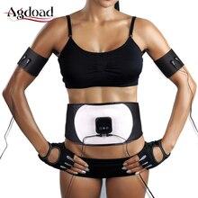 Пояс для похудения EMS мышечная Вибрация магнитный обруч Тренажер Массажер поддержка талии EMS сжигание жира стимулятор потери веса