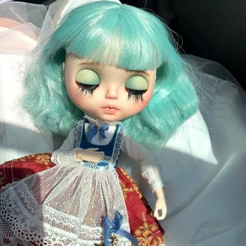 1/6 BJD 30CM Doll toys 19 joint Top Quality BJD Ball Joint Doll Cute girl with Mint green hair and eyelids blyth
