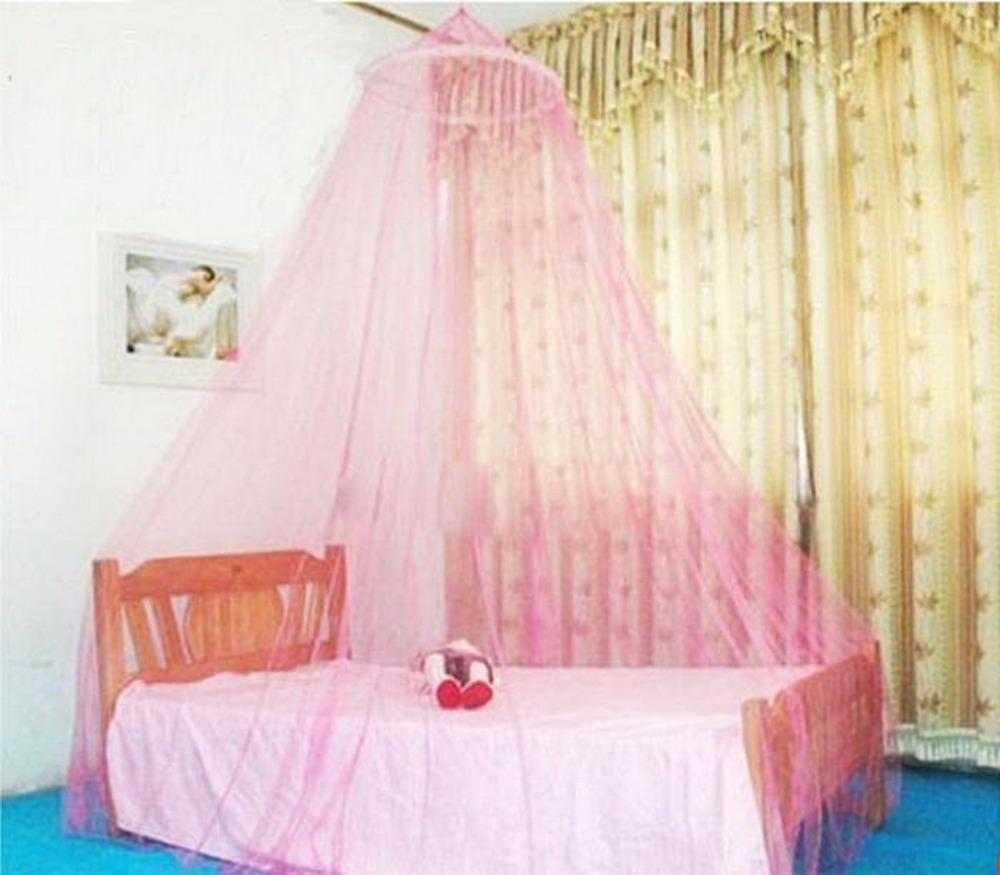 Elegant Round Lace Insect Bed Canopy Netting Curtain Dome Polyester Bedding Mosquito Net Home Furniture
