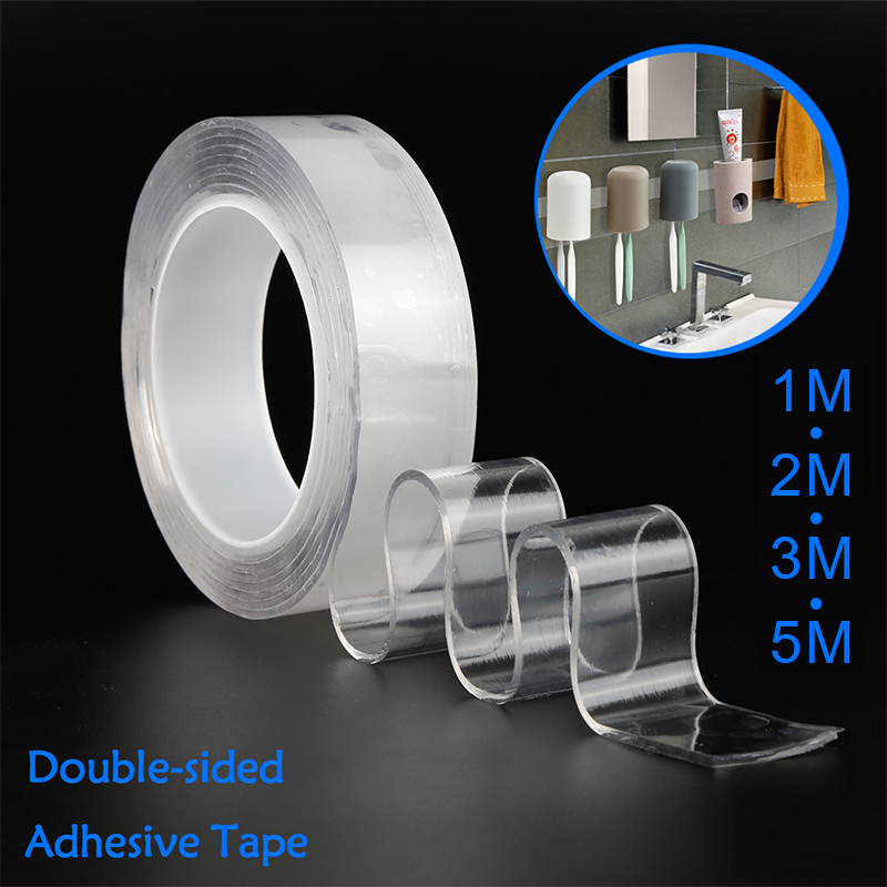 3M Transparent Magic Nano Tape Double-sided Tape Adhesive Nano Traceless Tape Removable Sticker Washable Gel Grip Tape