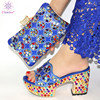 Black Color Matching Women Shoe and Bags Set Decorated with Rhinestone African Shoe and Bag Set for Party In Women Italy Shoes 5