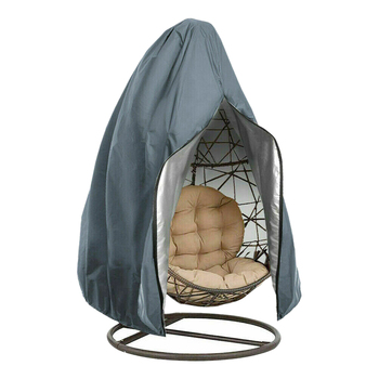 Wicker Dustproof Outdoor Swing Chair Cover Anti UV Hanging Hammock Stand Patio Garden Oxford Cloth Zipper Closure Washable