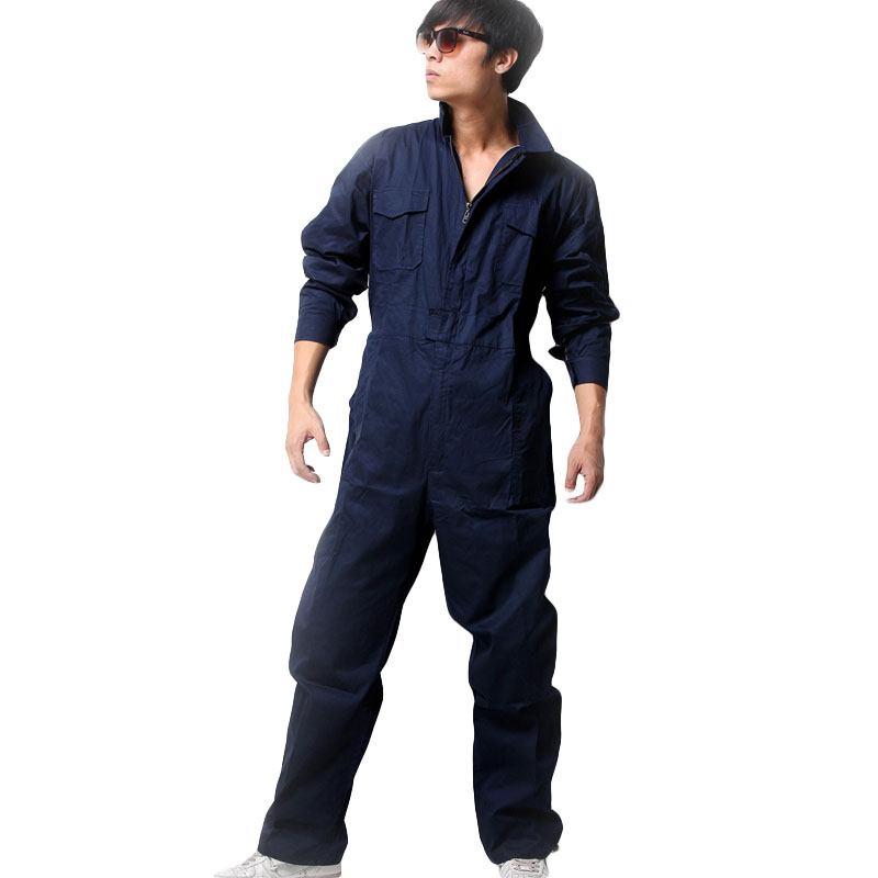 Men Work Clothing Long Sleeved Coveralls Cotton Breathable Thin Style Working Overalls Repairman Auto Repair Plus Size M-4XL