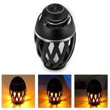 LED Flame Atmosphere Lamp Bluetooth 4.2 Speaker Supper Bass Stero Loudspeaker Portable Mini Wireless Speakers