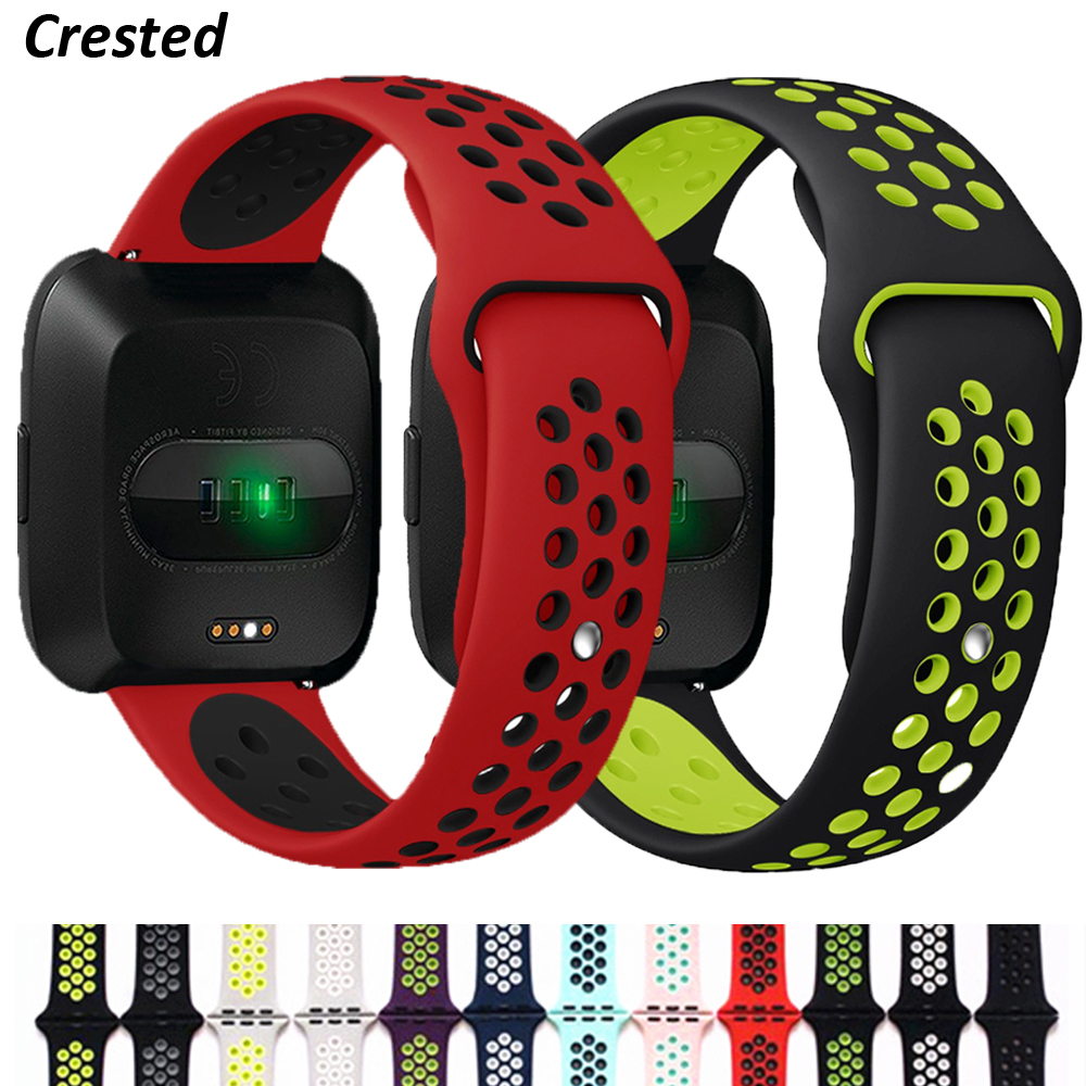Silicone Strap For Fitbit Versa 2 Band Smart Watch Replacment Band Soft Breathable Sport Bracelet Fitbit Versa/Lite/Versa2 Band