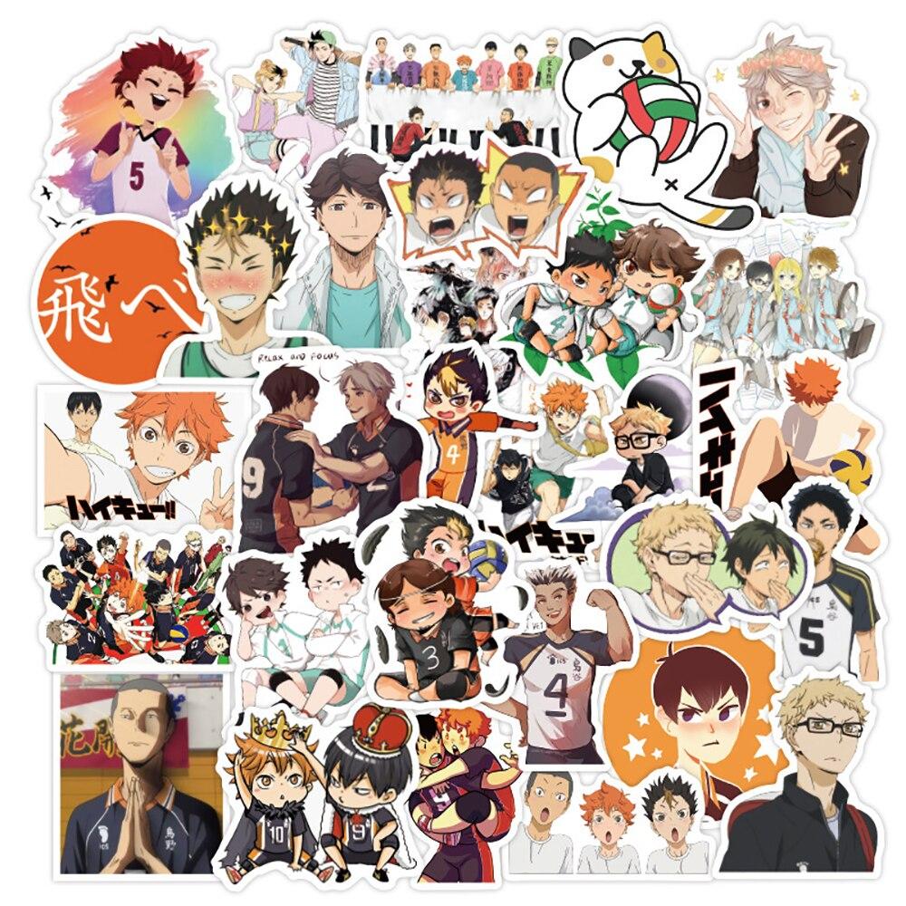 50PCS Anime Haikyuu!! Waterproof Graffiti Stickers DIY Motorcycle Travel Luggage Guitar Fridge Laptop Cool Sticker Kid Toy Gift