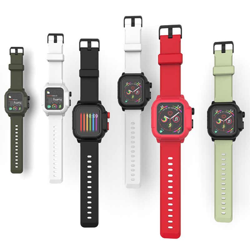 Спортивный водонепроницаемый ремешок для Apple Watch Band 5 4 Band 38 мм 42 мм Iwatch Series 5 4 Band 40 44 мм силиконовый браслет