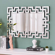 Panana – miroir rectangulaire mural en verre 90x60cm, mobilier de chambre à coucher, maquillage, décoration de la maison, livraison vers l'ue
