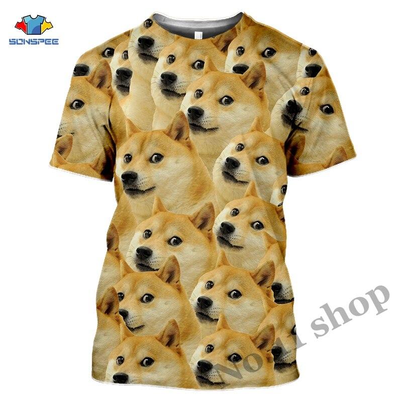 Anime 3d Print Game T Shirt Animal Doge Streetwear Dog Hunter Men Women Fashion T-shirt Harajuku Kids Shirts Homme Tshirt A206