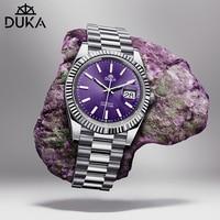 DUKA-Reloj de pulsera de acero inoxidable para Hombre, mecánico, automático, japonés, NH35, de cristal de zafiro, nuevo de 2021