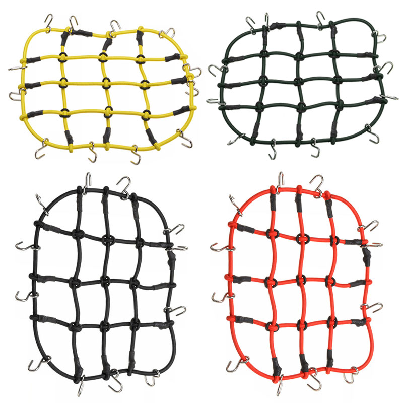13*11cm Elastic Luggage Net Car Roof Rack Storage Nets With Hooks For 1/10 RC Truck Rack Crawler Roof Accessories