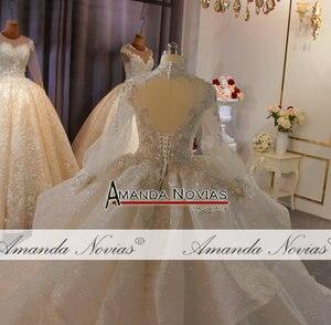 Image 5 - รูปภาพจริง Big Ball Gown ชุดแต่งงาน 2020 ชุดแต่งงานลูกไม้ Mariage เจ้าสาวหรูหรา