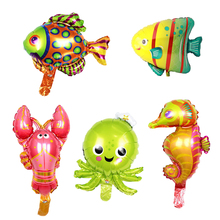 Chicinlife Ocean Fish Foil Balloons Birthday Party Decorations Baby