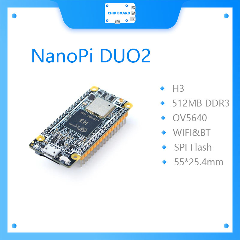NanoPi DUO2 512M Allwinner H3 Cortex-A7 WiFi Bluetooth модуль UbuntuCore светильник вес IoT приложения