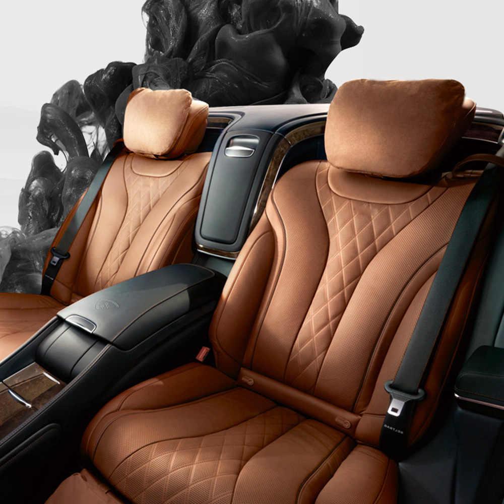 자동차 헤드 레스트 디자인 Maybach S 클래스 울트라 소프트 베개 편안한 메르세데스-벤츠 스웨이드 패브릭 목 베개