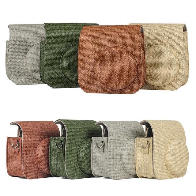 NEW Fujifilm Instax Mini Camera Case Bag PU Leather Cover with Shoulder Strap for Instax Mini 9 8 8+ Instant Film Cameras Case