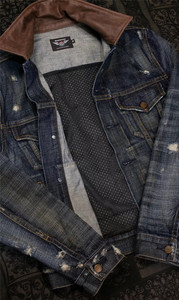 Image 4 - UGLYBROS UBJ 121 Vintage classic denim jacket motorcycle protection jacket motorcycle t shirt for men