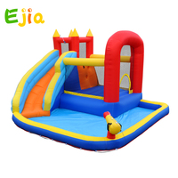 Hot new Design color Inflatable Water Slide Pool Jumping Bouncer Castle With Air Blower Carry Bag for Kids indoor outdoor