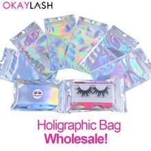 Okaylash оптовая продажа Радужный пакет для хранения ресниц