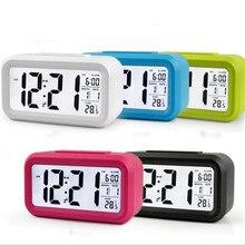 Réveil numérique pour enfants, horloge de réveil, Table de température et heure, veilleuse pour le bureau