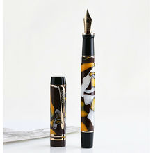 Moonman M600S Celluloid Amber Fountain Pen F/M/Bent Nib with Converter Excellent Quality Office Business Writing Gift Ink