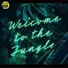 Neon Sign for Welcome to the Jungle Neon Bulb sign handcraft gifts neon signboard wall lights anuncio luminos Restraunt taver neon sign we love harley neon signs real glass tubes neon bulb signboard custom lighted with plastic board neon lights for sale