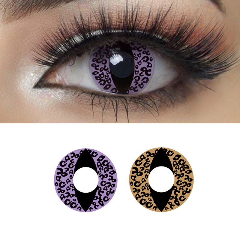 Cheetah Cat Eye Halloween Contacts Cosplay Colored Contact Lenses