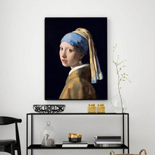 Netherlands Jan Vermeer GIRL WITH A PEARL EARRING Oil Painting Poster Wall Art Canvas Picture Living Room Home Decor No Frame