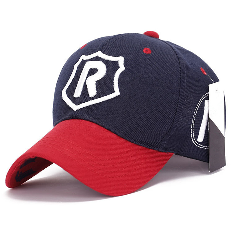 New R Letter 3D Embroidered Baseball Cap Adjustable Hip Hop Fashion Hat Outdoor Cotton Casual Breathable Hats Sports Caps