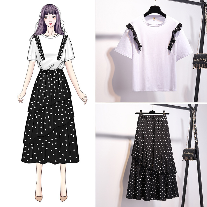 WOMEN'S Suit 2019 New Style Korean-style Loose-Fit Fairy MORI Series Goddess-Style Western Style Graceful Two-Piece Set