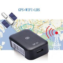 GF21 ミニ GPS リアルタイム車のデバイス音声制御記録ロケータ高精細マイク Wifi + LBS + GPS Pos