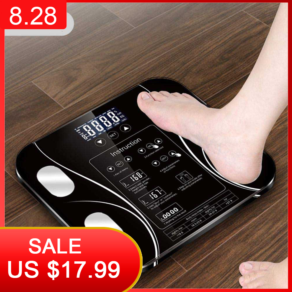 Balance-Connect Composition-Weight-Scale Bathroom-Scale Weighing Body-Fat Smart Household