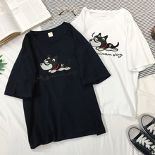 T Shirt Women O-neck Short Sleeve Female Tshirt Print Tops Loose Summer Tees New Arrival Woman T-shirts