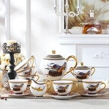 Tea-Box Porcelain Coffee Afternoon Gift Saucer Retro Camellia Tin Horse-Horse