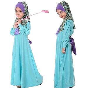 Image 2 - Children Abaya Kids Islamic Dresses Muslim Girl Dress Kaftan Moroccan Hijab Robe Dubai Bangladesh Vestido Uae Abayas