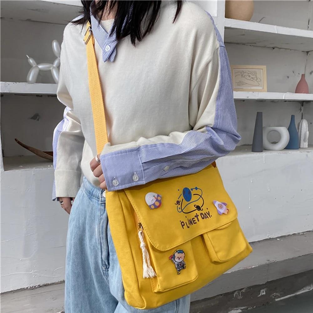 Women Tote Cross Body Handbag Ladies Messenger Shoulder Bag Canvas Bag New Purse