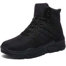 High Quality Waterproof Winter Warm Men Boots Shoes Top Thick Sole Male Snow Shoes Outdoor Rubber Men Ankle Boots Casual Shoes ubfen men boots high quality comfortable warm ankle boots autumn winter male youth fashion casual shoes high top cotton boots