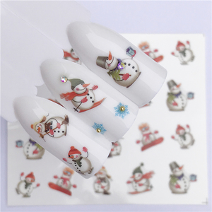 Image 1 - YZWLE 1 Sheet Winter Snowflake Full Wraps Nail Art Water Transfer Stickers Christmas Style Manicure Decal DIY