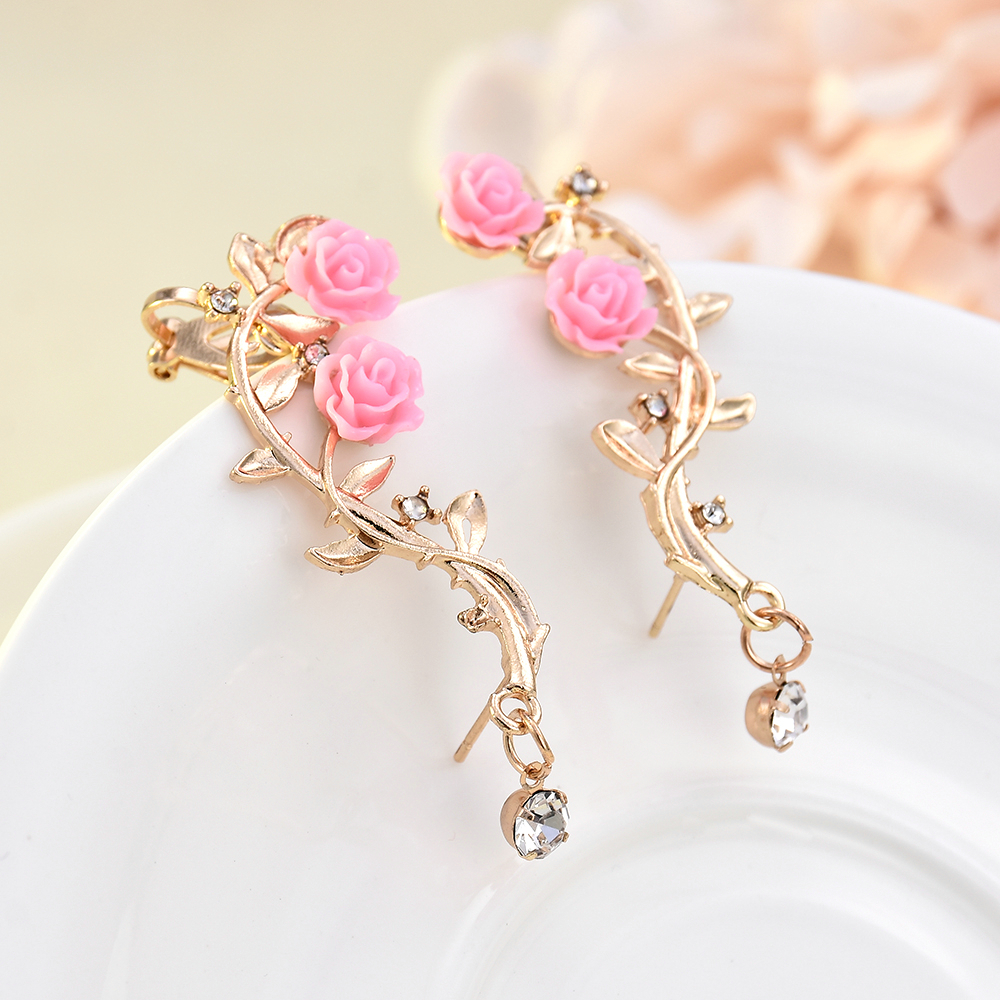 Hot Fashion OR Ginkgo LEAF PIN LADY/'S Boucles D/'oreilles