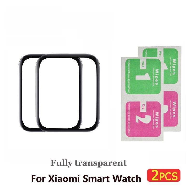 2 шт Защитная пленка для xiaomi smart watch пленка Взрывозащищенная/устойчивая к царапинам защита mi watch стекло(не закаленное стекло - Цвет: 2pcs