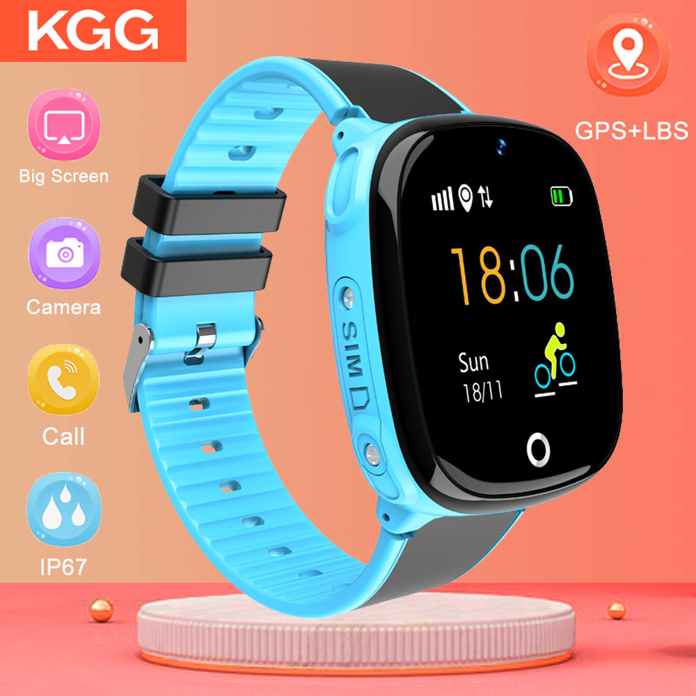 HW11 IP67 Waterproof Smart Watch Kids Android Tracking Security SOS Call Smart Watch GPS with Camera for Baby Smartwatch